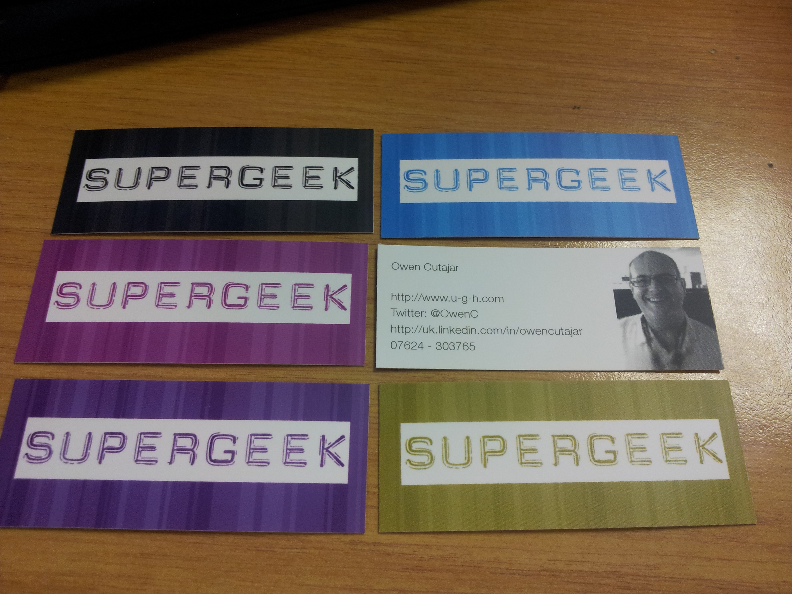Check out my new Moo cards